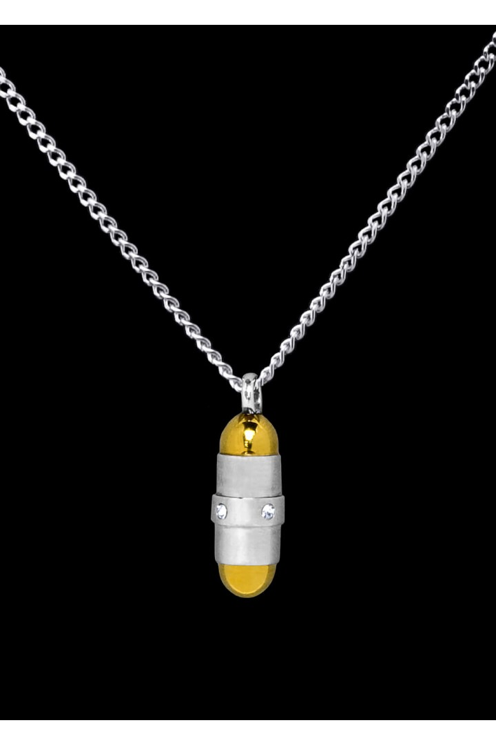 Stainless Steel Bullet Cremation Pendant #36-619